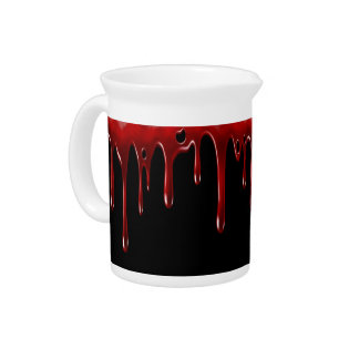 Falln Blood Drips Black Pitcher