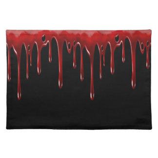 Falln Blood Drips Black Placemat