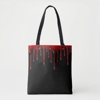 Falln Blood Drips Black Tote Bag