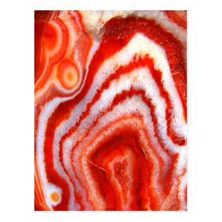 Falln Blood Orange Agate Postcard
