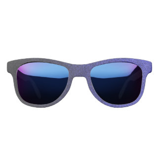 Falln Blue & Black Glitter Gradient Sunglasses