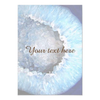 Falln Blue Crystal Geode Card