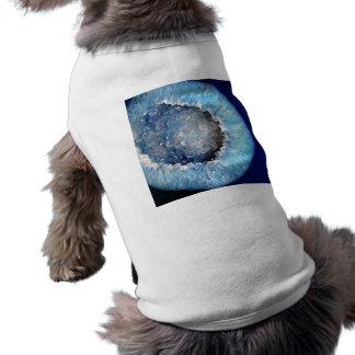 Falln Blue Crystal Geode Sleeveless Dog Shirt