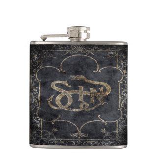 Falln Book of Sin Hip Flask