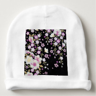 Falln Cascading Pink Flowers Baby Beanie