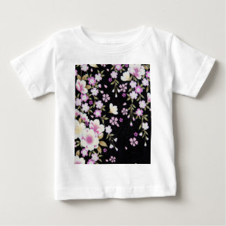 Falln Cascading Pink Flowers Baby T-Shirt