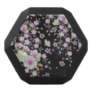 Falln Cascading Pink Flowers Black Bluetooth Speaker