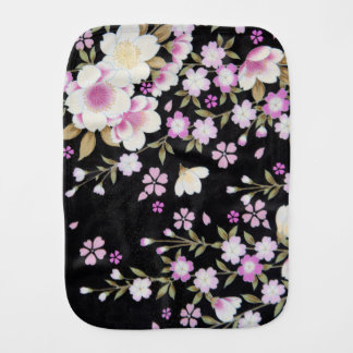 Falln Cascading Pink Flowers Burp Cloth