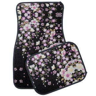 Falln Cascading Pink Flowers Car Mat