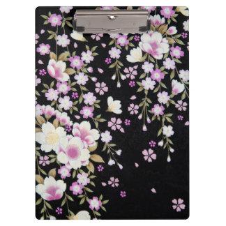 Falln Cascading Pink Flowers Clipboard