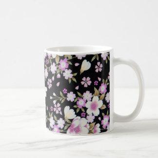 Falln Cascading Pink Flowers Coffee Mug