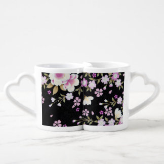 Falln Cascading Pink Flowers Coffee Mug Set