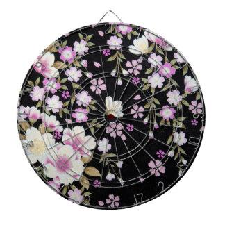 Falln Cascading Pink Flowers Dartboard