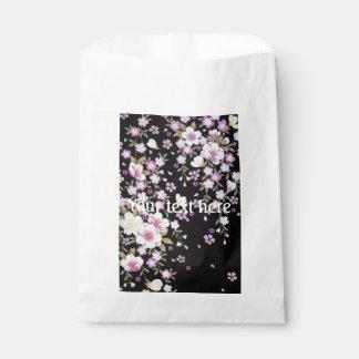 Falln Cascading Pink Flowers Favour Bag