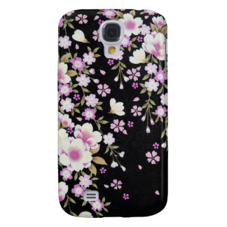Falln Cascading Pink Flowers Galaxy S4 Cases