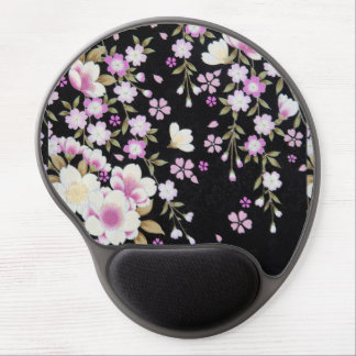 Falln Cascading Pink Flowers Gel Mouse Pad