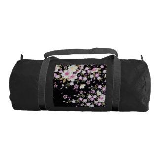 Falln Cascading Pink Flowers Gym Bag