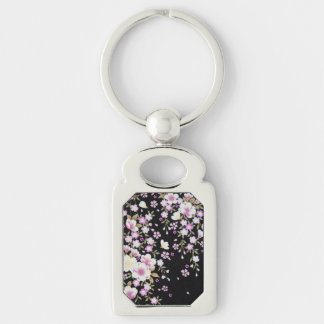 Falln Cascading Pink Flowers Key Ring