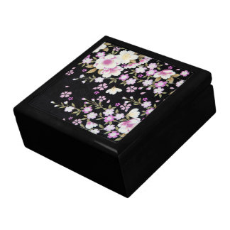 Falln Cascading Pink Flowers Large Square Gift Box