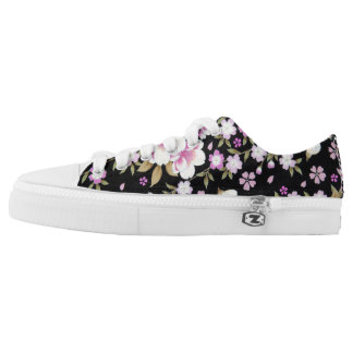 Falln Cascading Pink Flowers Low Tops