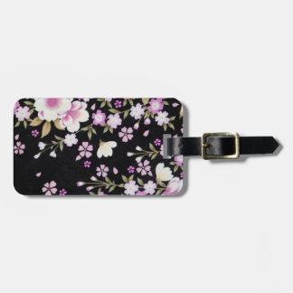 Falln Cascading Pink Flowers Luggage Tag