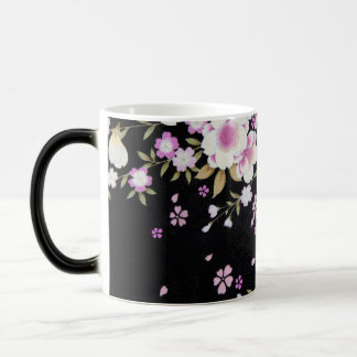 Falln Cascading Pink Flowers Magic Mug