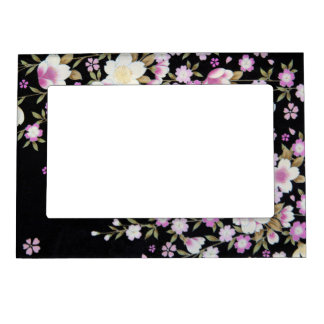 Falln Cascading Pink Flowers Magnetic Picture Frame