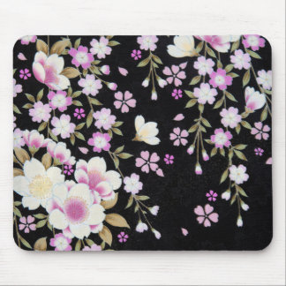 Falln Cascading Pink Flowers Mouse Pad