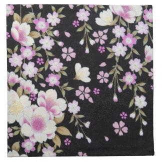Falln Cascading Pink Flowers Napkin
