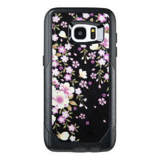 Falln Cascading Pink Flowers OtterBox Samsung Galaxy S7 Edge Case