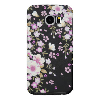 Falln Cascading Pink Flowers Samsung Galaxy S6 Cases