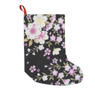 Falln Cascading Pink Flowers Small Christmas Stocking