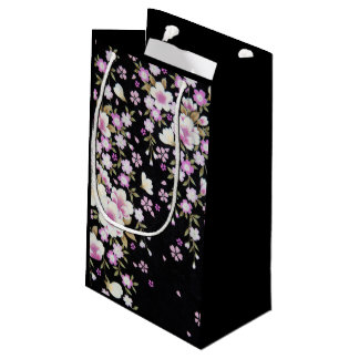 Falln Cascading Pink Flowers Small Gift Bag
