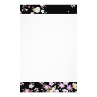 Falln Cascading Pink Flowers Stationery