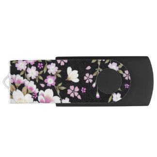 Falln Cascading Pink Flowers USB Flash Drive