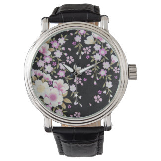 Falln Cascading Pink Flowers Watch