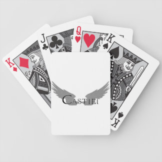 Falln Castiel With Wings Black Bicycle Playing Cards