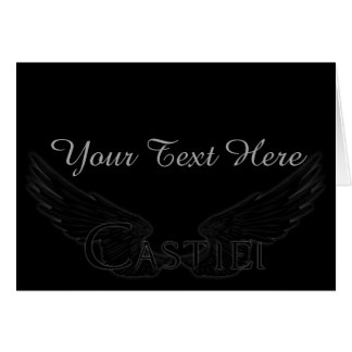 Falln Castiel With Wings Black Card