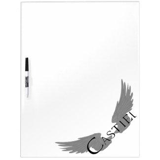 Falln Castiel With Wings Black Dry Erase Board