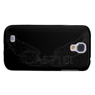 Falln Castiel With Wings Black Galaxy S4 Cases