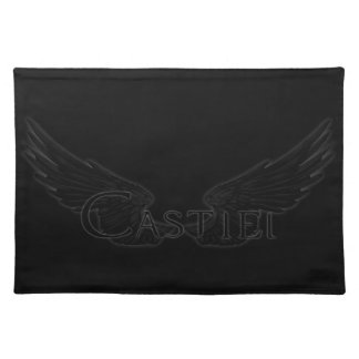 Falln Castiel With Wings Black Placemat
