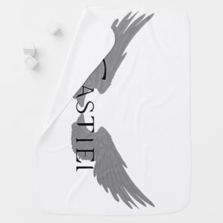 Falln Castiel With Wings Black Receiving Blankets