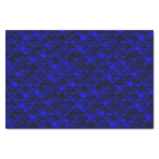 Falln Dark Blue Mermaid Scales Tissue Paper