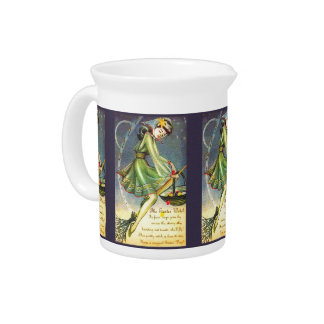 Falln Easter Witch Pitcher