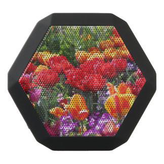 Falln Floral Crimson Waves Black Bluetooth Speaker