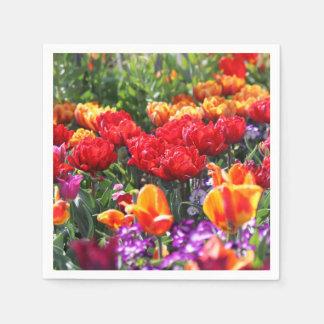 Falln Floral Crimson Waves Disposable Napkin