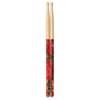 Falln Floral Crimson Waves Drumsticks