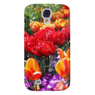 Falln Floral Crimson Waves Galaxy S4 Cover