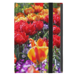 Falln Floral Crimson Waves iPad Mini Cover