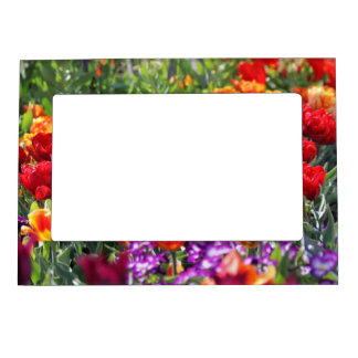 Falln Floral Crimson Waves Magnetic Picture Frame
